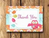 What a Hoot Owl Teacher Thank You Notes