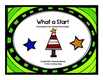 What a Star!: A Christmas-Themed Word Reading Game