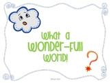 What a Wonder-Full World!