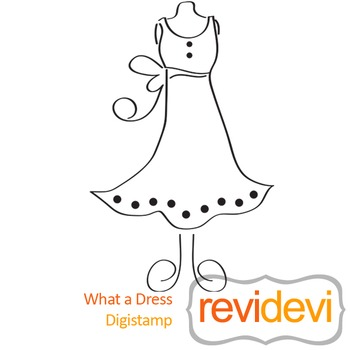 What a dress (digital stamp, coloring image) S014