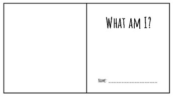 What am I? Blue Whale Book