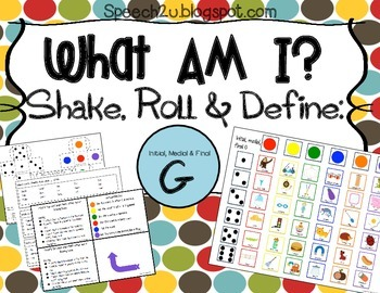 What am I Expansion Micropacket: G Speech Therapy Articulation