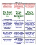 What am I...Great Compromise, 3/5th, or Shay's Rebellion?