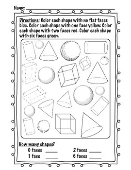 What am I? Name that Shape! 2D and 3D Shapes Review Activities