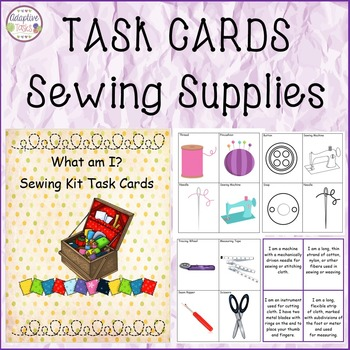 TASK CARDS Sewing Supplies