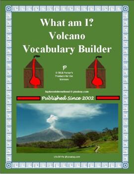 What am I? Volcano Vocabulary Builder Activity