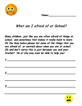 What am I afraid of at school?