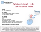 What am I doing? (verbs) - Task Box or File Folder