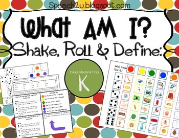 What am I expansion Micro packet:  K sounds, Speech therapy