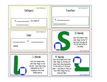 What am I expansion set: Consonant Blends, articulation