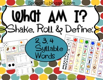 What am I expansion set: Syllables, apraxia, phonology
