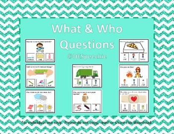 What and Who Questions