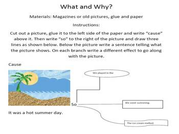 What and Why Cause and Effect Activity