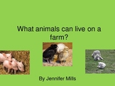 What animals can live on a farm ?