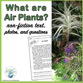 Air Plants Nonfiction Text  NGSS 5-LS1-1