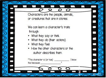 What are Characters and How Do We Learn About Them- Balanced Lit. Common Core