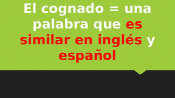 What are Cognates? PowerPoint