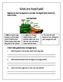 What are Fossil Fuels? - Worksheet