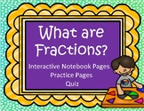Introduction to Fractions: Interactive Notebook, Practice