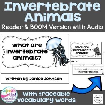Invertebrate Animals ~ Emergent Science Reader & Boom w Audio Distance Learning