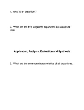 What are Living Things?  Common Core activities