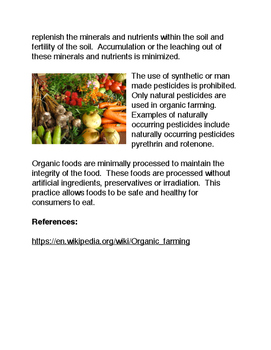 What are Organic Foods?