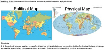What are Political and Physical Maps?  Smartboard Smart Notebook Presentation