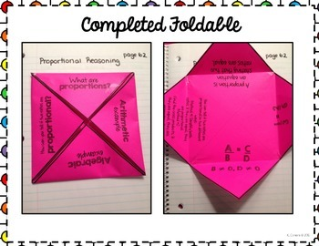 Proportions Foldable