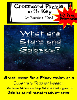 What are Stars and Galaxies? Crossword Puzzle and Key
