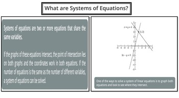 What are System of Equations? (PowerPoint Lesson with Printables!)