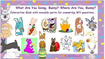 What are You Doing, Bunny? Where Are You, Bunny?  Interactive Book WH? & Actions
