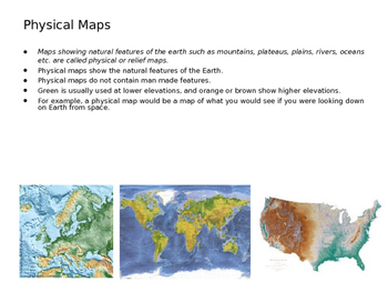 What are different types of Maps? (Presentation and Handout)