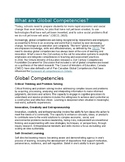 What are global competencies?