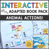 What Are The Animals Doing? - Interactive Books - Present Progressive Verbs