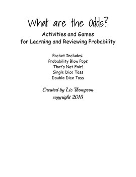 What are the Odds? Probability Activities
