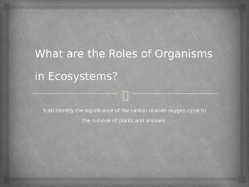 What are the Roles of Organisms in Ecosystems?