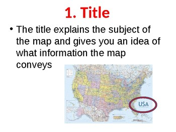 What are the Six Elements in Maps (Presentation and Handout)