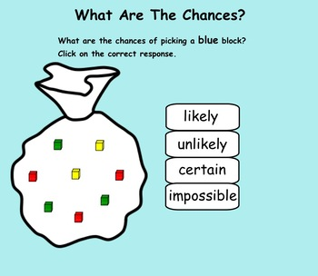 What are the chances?  Smartboard Lesson and Printables Gr. 2