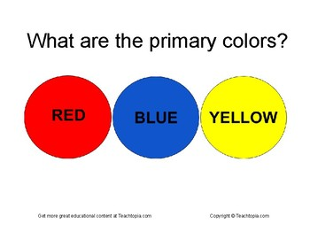 What are the primary Colors?  A great art poster for the classroom.