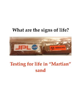 """What are the signs of life? Testing for life in """"Martian"""" sand"""
