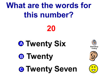 What are the words for this number?  20-49 with VOCALS Promethean Board