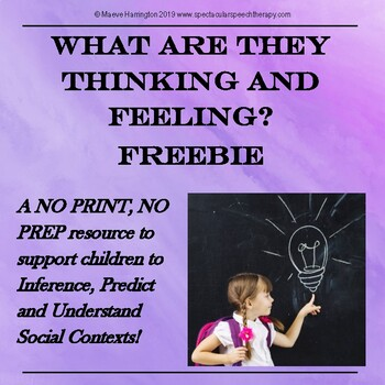 What are they Thinking and Feeling? Distance Learning Freebie
