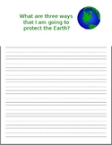 What are three ways I am going to protect the Earth?