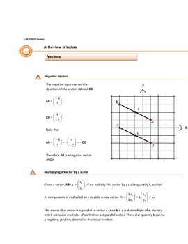 VECTORS & THE ALGEBRA OF VECTORS