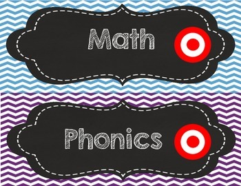 What are we learning today? Chevron Chalkboard Learning Targets