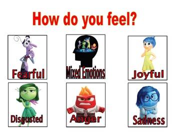 Feelings chart/poster. Inside Out