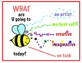 What are you going to BEE? Art Room Behavior Poster and Bee Contracts
