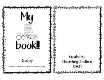 My 5 Senses - emergent reader