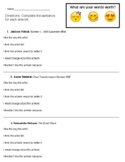 What are your words worth?! Emoji Edition. Visual Arts Critique Worksheet