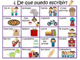 What can I write about? (Spanish)  ¿De que puedo escribir?